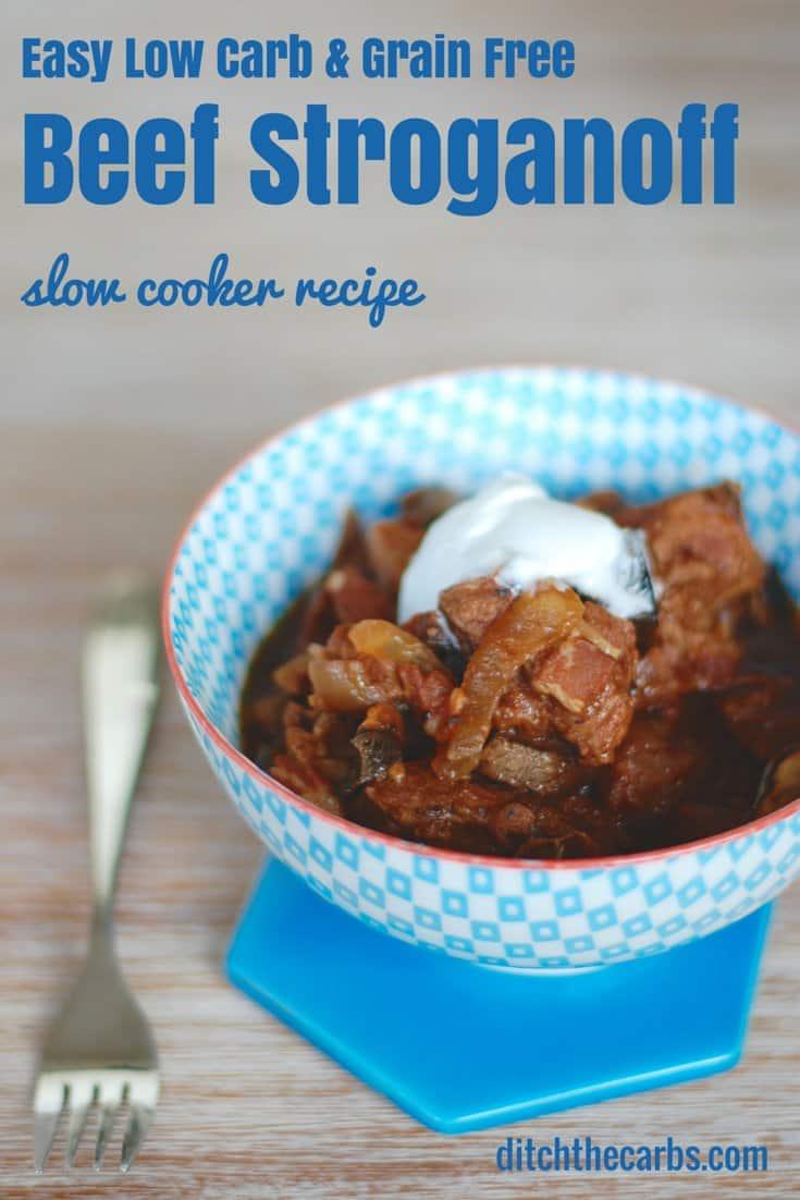 Nutritious Keto Crockpot Recipes: Keto Slow Crockpot Beef Stroganoff