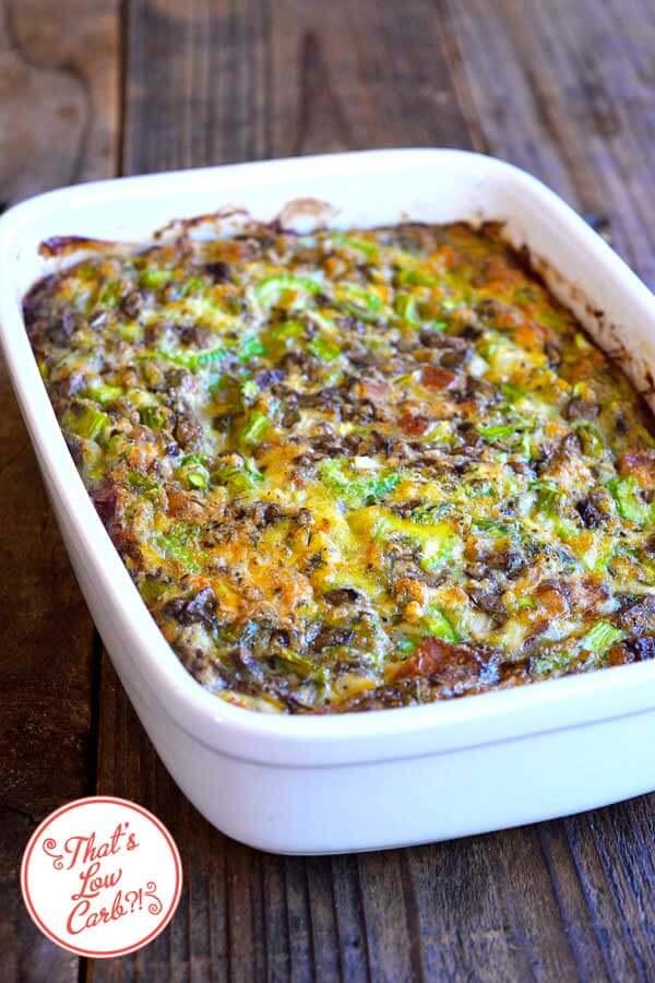 Low Carb Bacon Asparagus Breakfast Casserole Recipe | Nutritious Keto & Low Carb Casserole Recipes | heall