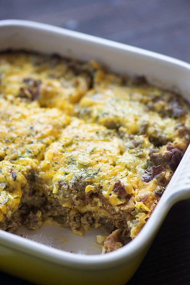Low Carb Bacon Cheeseburger Casserole | Nutritious Keto & Low Carb Casserole Recipes | heall