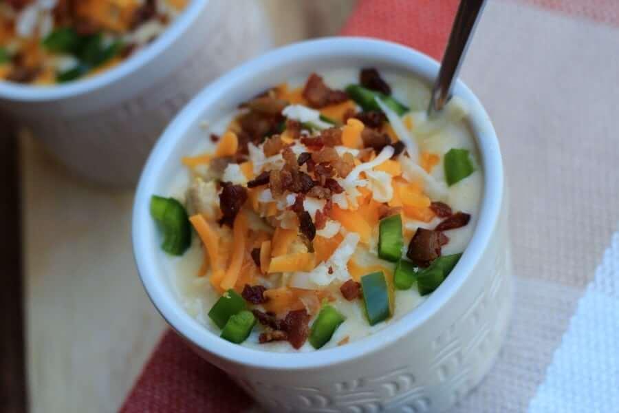 Nutritious Keto Crockpot Recipes: Keto Jalapeno Popper Chicken Soup