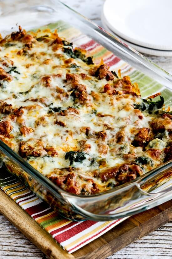 Low-Carb Sausage and Kale Mock Lasagna | Nutritious Keto & Low Carb Casserole Recipes | heall