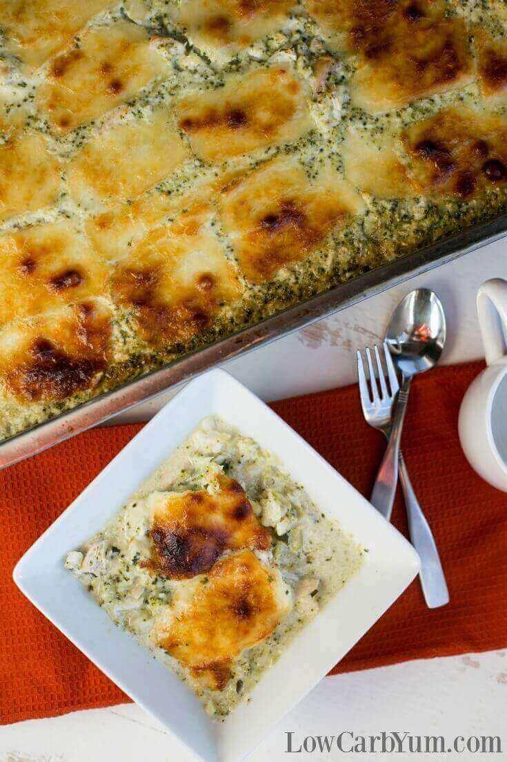 Chicken Alfredo Casserole with Broccoli | Nutritious Keto & Low Carb Casserole Recipes | heall