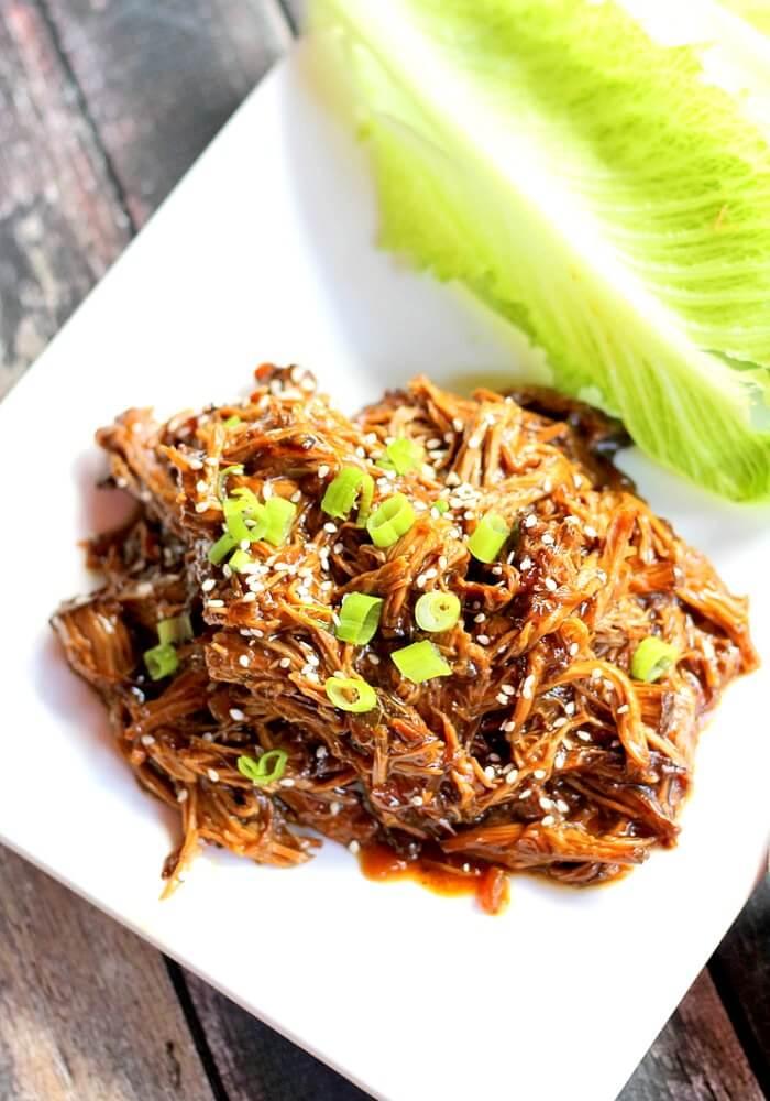 Nutritious Keto Crockpot Recipes: Slow Cooker Beef Teriyaki Lettuce Cups