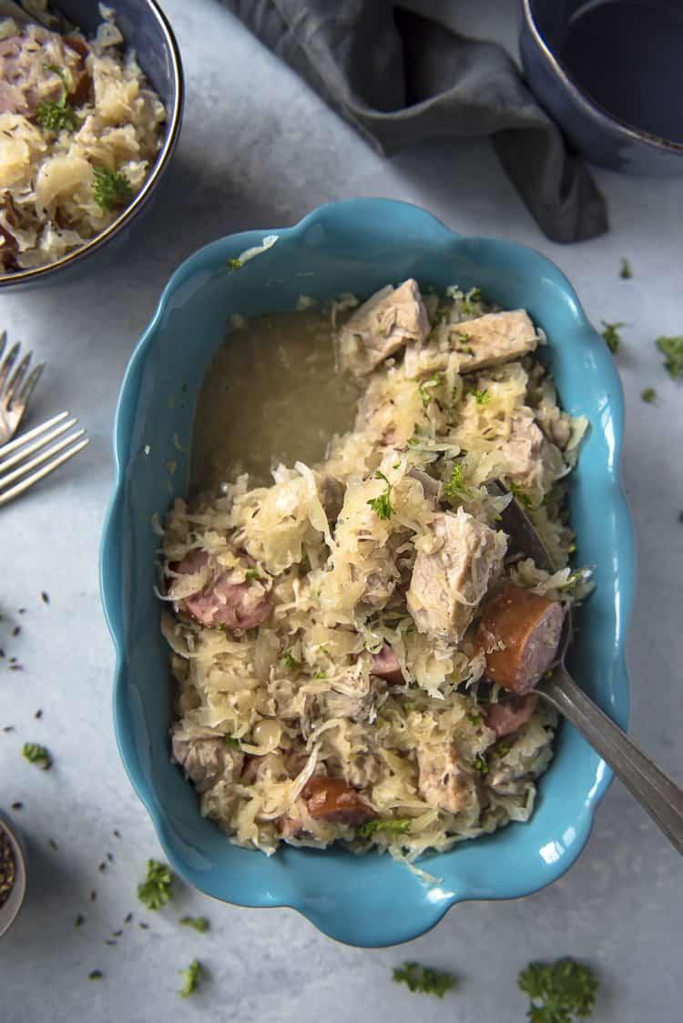 Nutritious Keto Crockpot Recipes: Pork and Sauerkraut