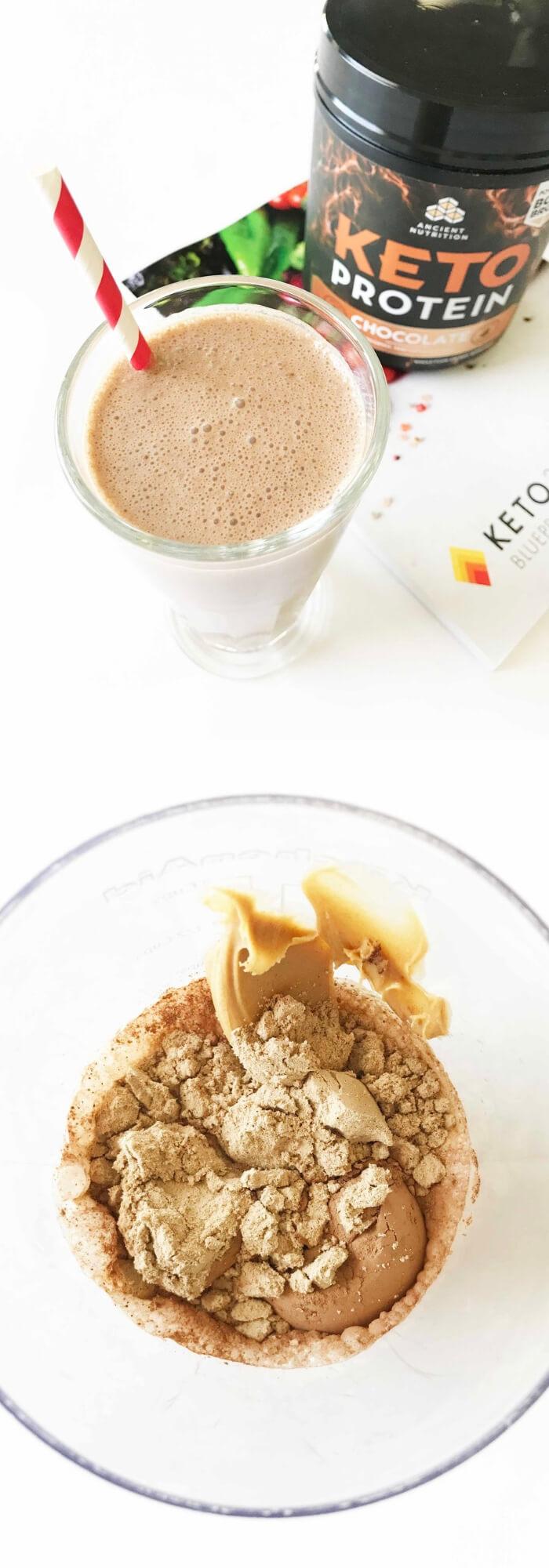 Keto Breakfast Shake — Peanut Butter Flavor