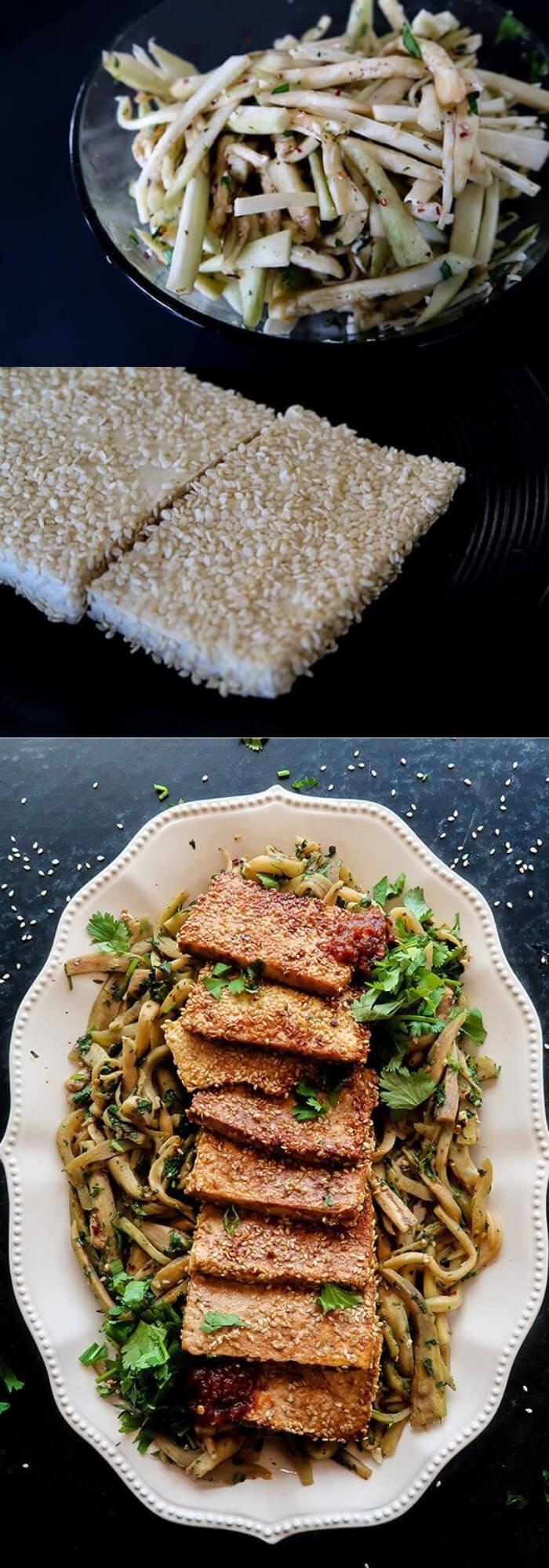 Keto Breakfast Vegetarian - Tofu and Eggplant