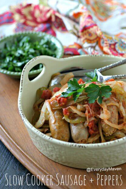 Nutritious Keto Crockpot Recipes: Keto Crockpot Sausage and Peppers
