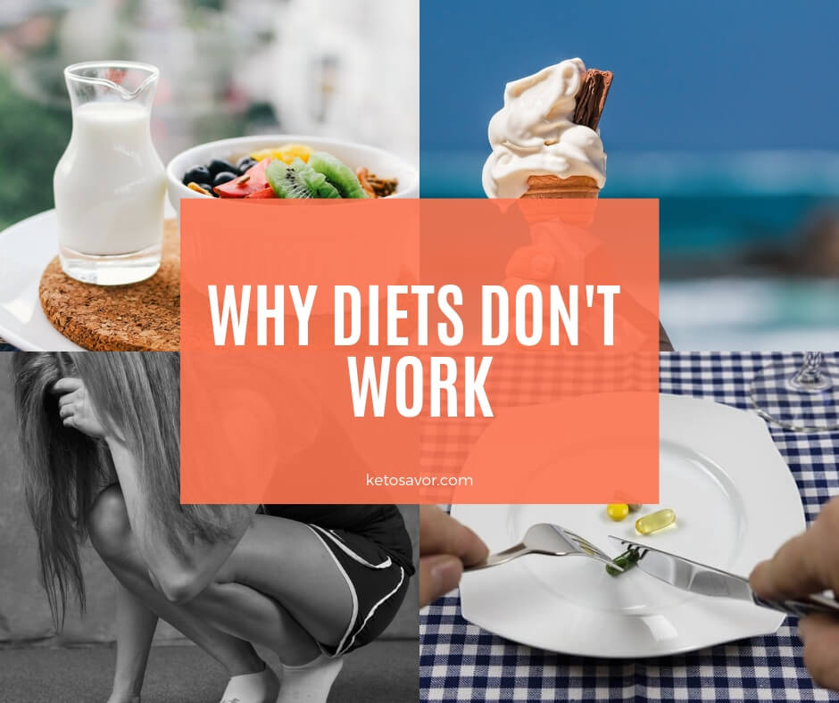 There are several reasons people fail in dieting and weight loss goals.