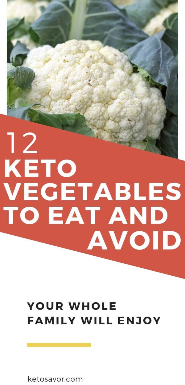 Keto vegetables to eat and avoid on a keto diet