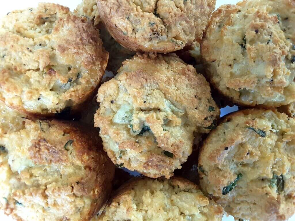 Low Carb Cheese and Chive Muffins