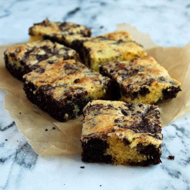 Low-Carb Brownie Swirls
