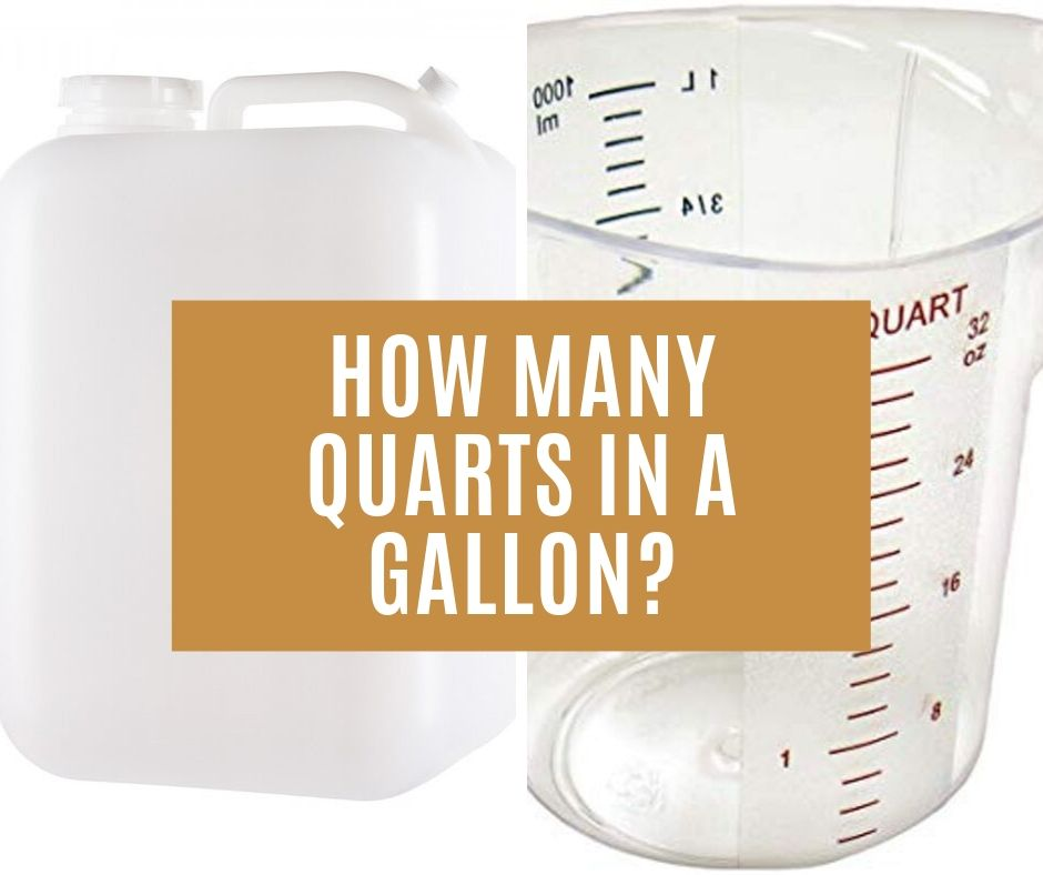 How many quarts in a gallon and conversion