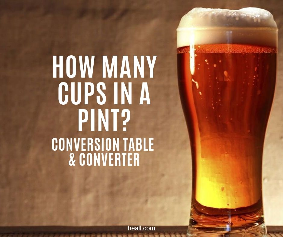 How many cups in a pint?