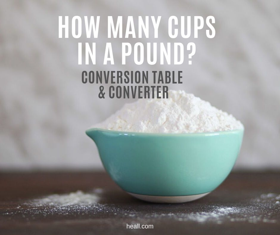 How many cups in a pound?
