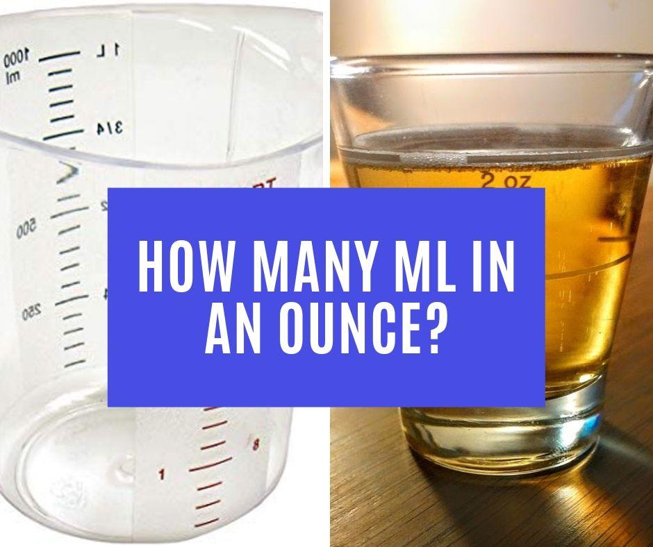 How Many mL in an Ounce?